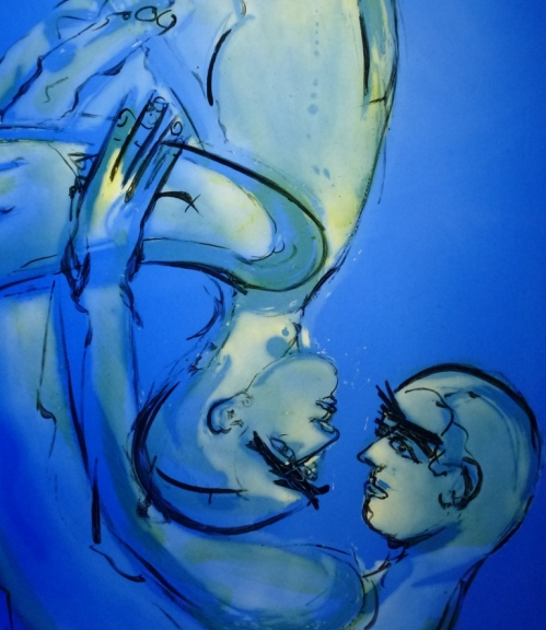 Mark Angus: Wrestling with Angels. Paintings in Glass and on Paper